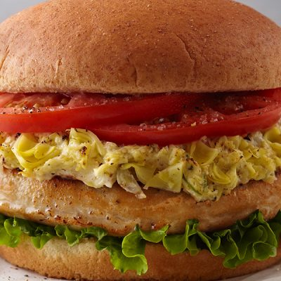 Artichoke Turkey Burger
