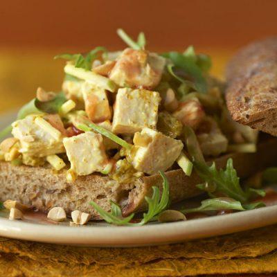 curried turkey salad sandwich