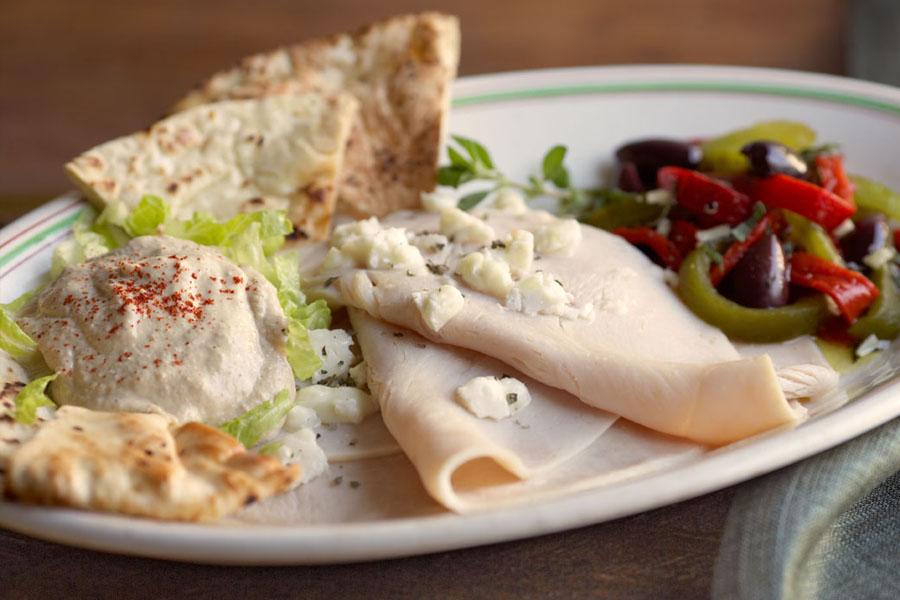 greek taverna turkey plate