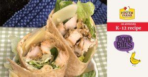 Caesar chicken wrap