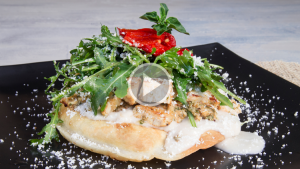 Bold Bites Mediterranean Tostada
