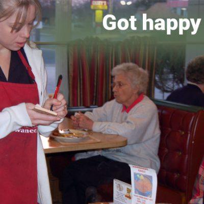 Happy restaurant staff