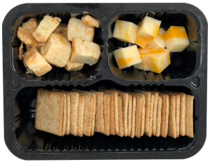 Bold Bites with wheat crackers